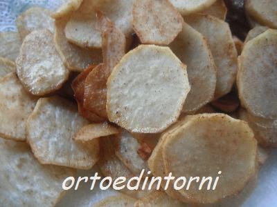Orto e dintorni chips con patate americane dolci alla paprika for Patate dolci americane