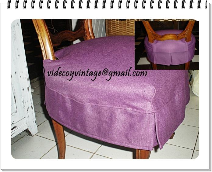 Videcoyvintage deco soluciones deco sillas - Como hacer fundas para sillas de comedor ...
