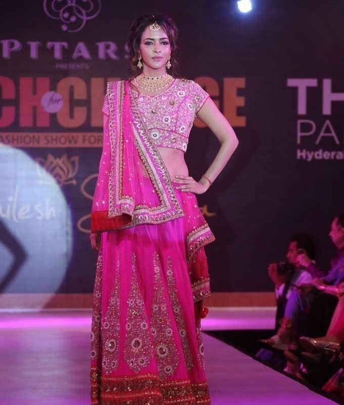 Manchu Lakshmi at Teach For Change Fashion Show