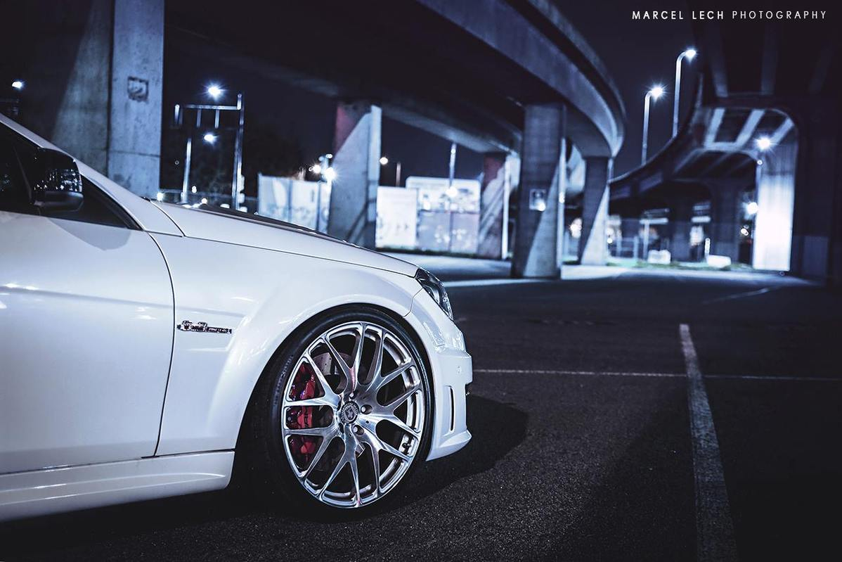 Mercedes Benz W204 C63 Amg Coupe On Hre Performance Rims