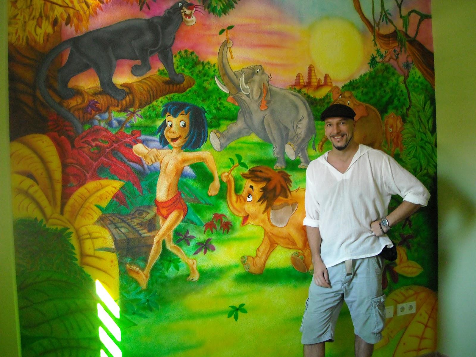 Murales infantiles como realizamos un mural infantil de for Murales infantiles