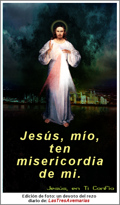 imagen de jesus de la divina misericordia con oracion para pedir misericordia