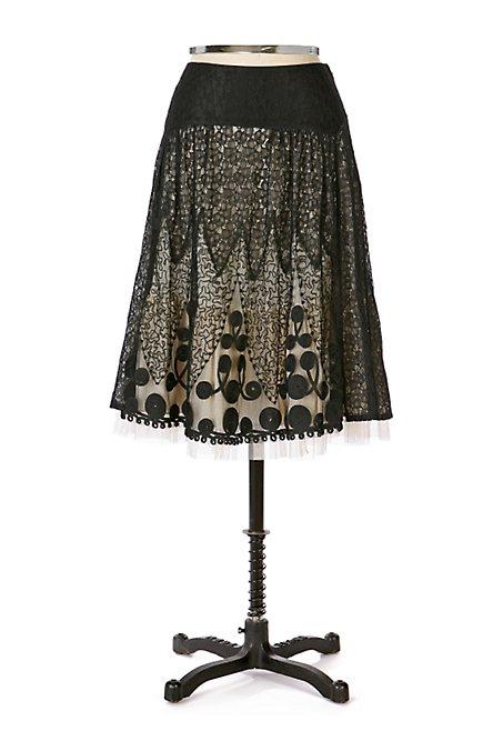 Anthropologie Midnight Bell Skirt
