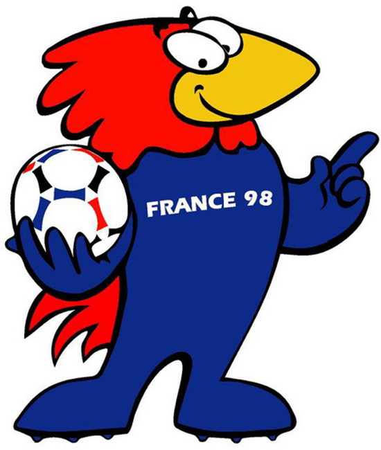 Footix rooster the 1998 FIFA World Cup in France mascot.