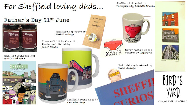 Father's Day gifts, Bird's Yard, Sheffield