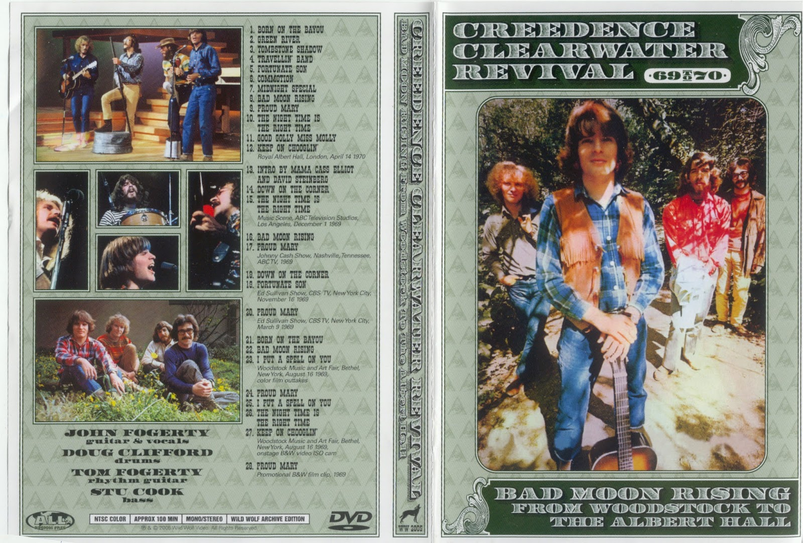 T.U.B.E.: Creedence Clearwater Revival - Video compilation (DVDfull ...