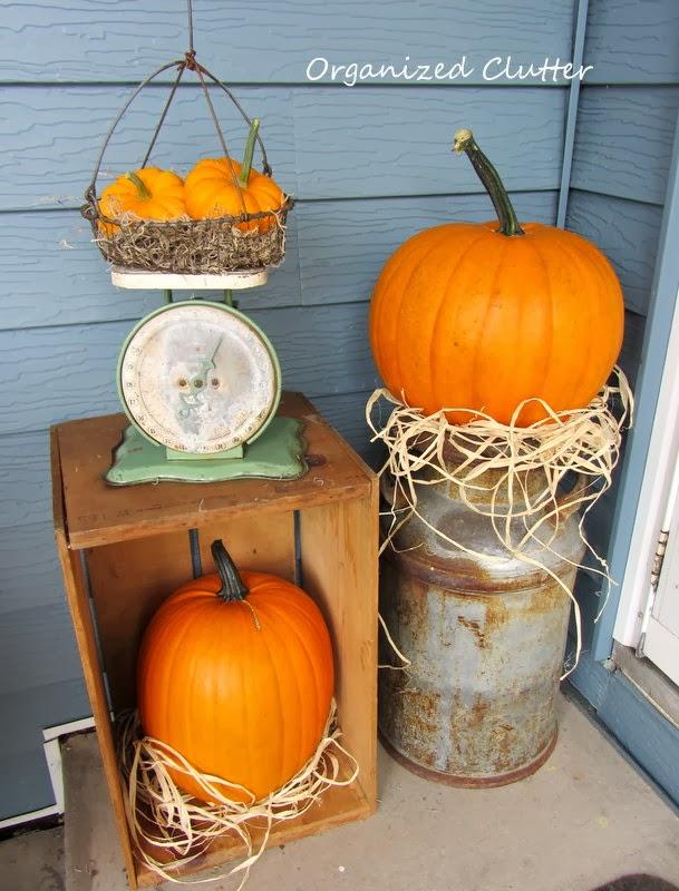 Junk Garden Crates, Lanterns, Milk Cans & Pumps www.organizedclutterqueen.blogspot.com