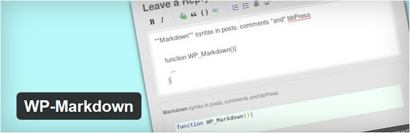 WP Markdown plugin for WordPress