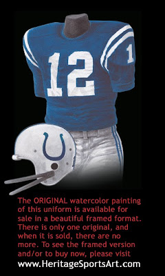 Baltimore Colts 1968 uniform - Indianapolis Colts 1968 uniform