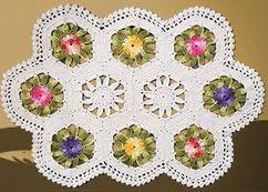 tapete em croche barbante floral em croche com receitas
