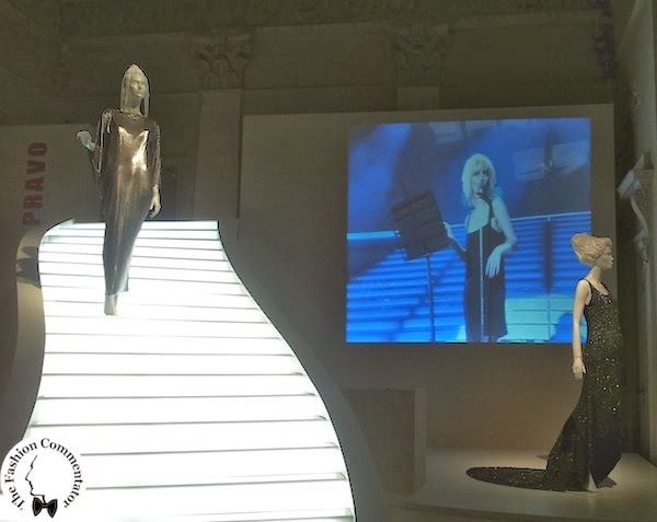 Donne protagoniste del Novecento - Patty Pravo Gianni Versace oroton dress for Sanremo 1984; Gucci dress for Sanremo 1987 Galleria del Costume Firenze