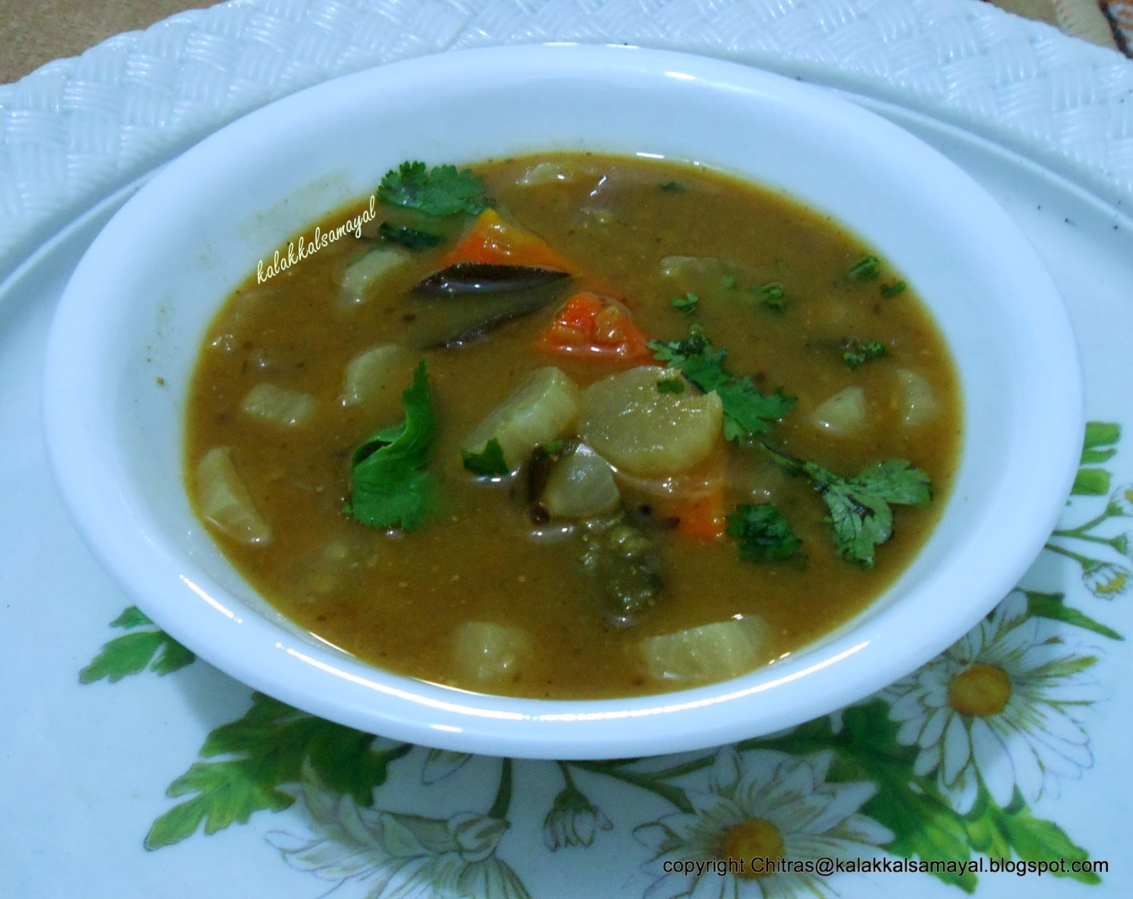 Sambar [ Mixed vegetable sambar ]