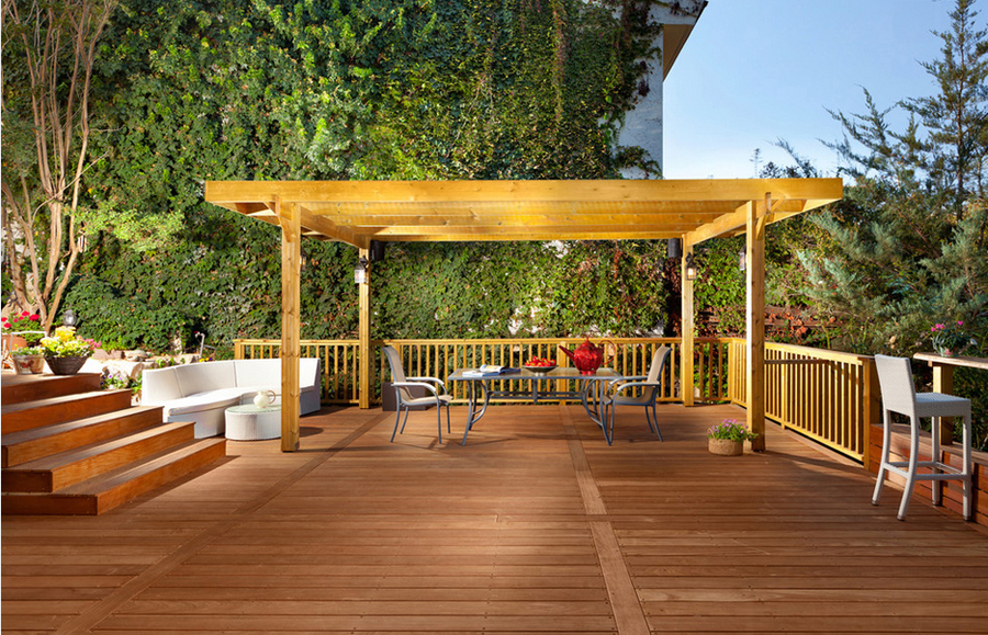 The pergola with moderate cost ensuring attractive style to widening living  space along with utmost comfort at the outdoor area of someone. - Creative Pergola Design In Uae, Royal White Pergola, Patio Pergola