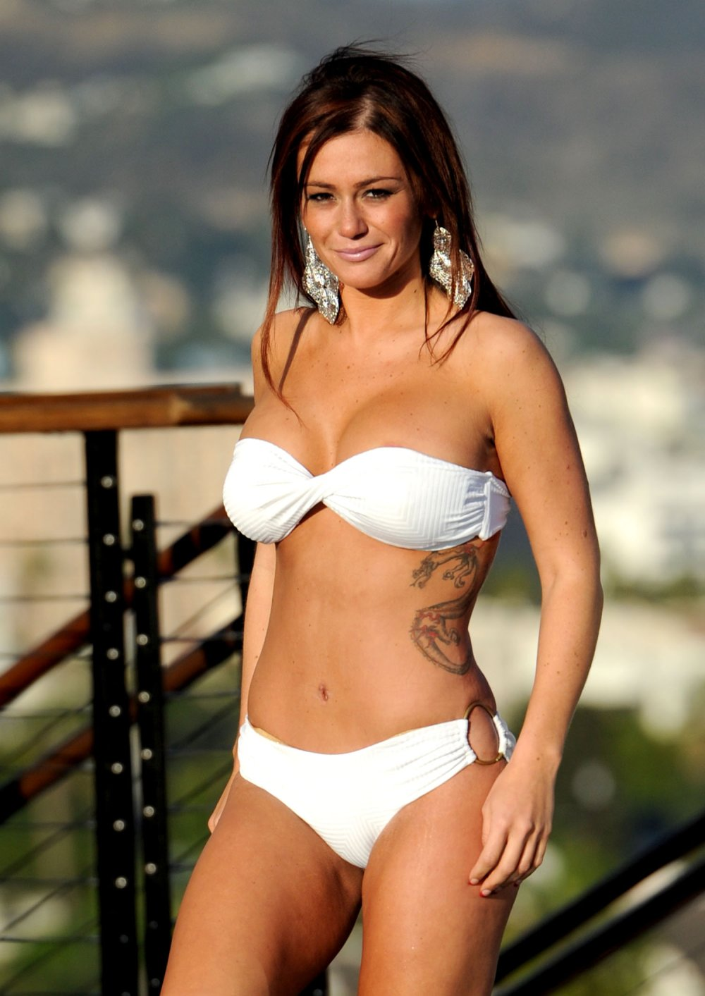 Bikini Cleavage Jenni Farley JWoww naked photo 2017