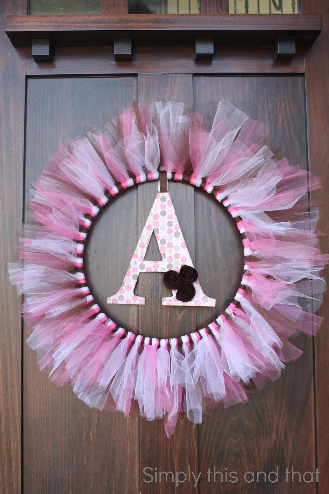 Simply this and that baby girl shower for Baby shower door decoration