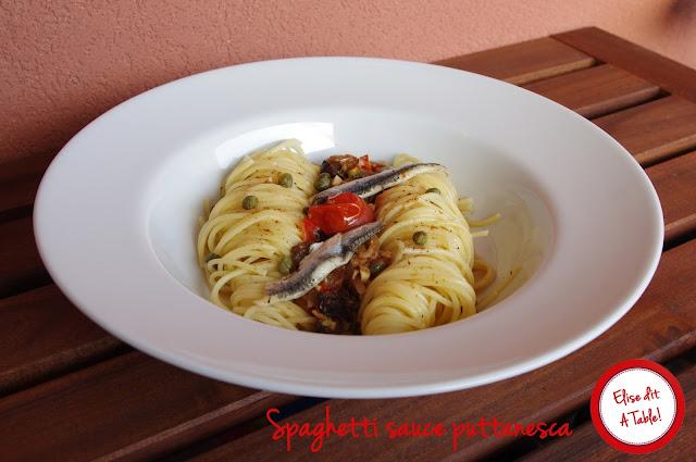 Spaghetti sauce puttanesca