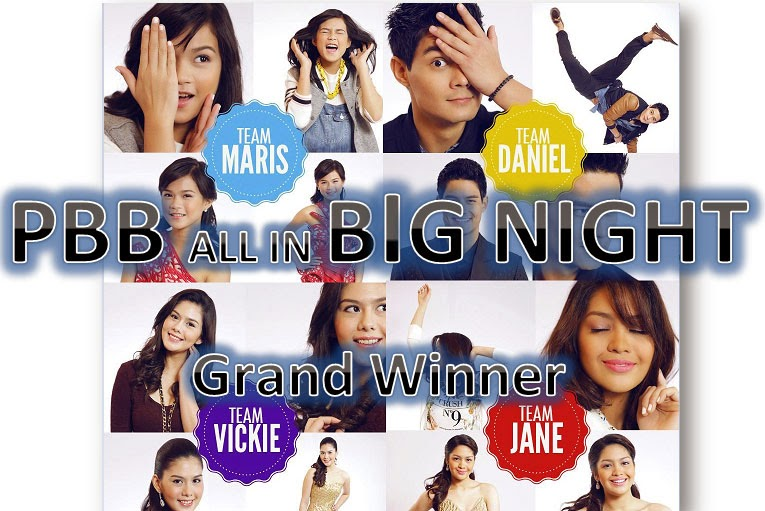 The Big Night 2014 PBB All In Grand Champion Winner Result