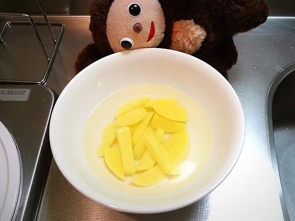 イカとジャガイモのキムチ炒めの作り方(1)