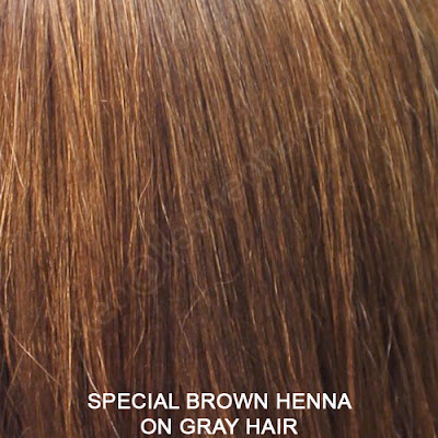 Special Brown Henna On Gray Hair
