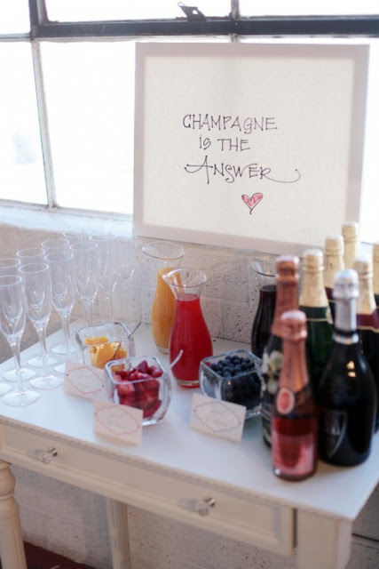 Champagne Bar at my Bridal Shower