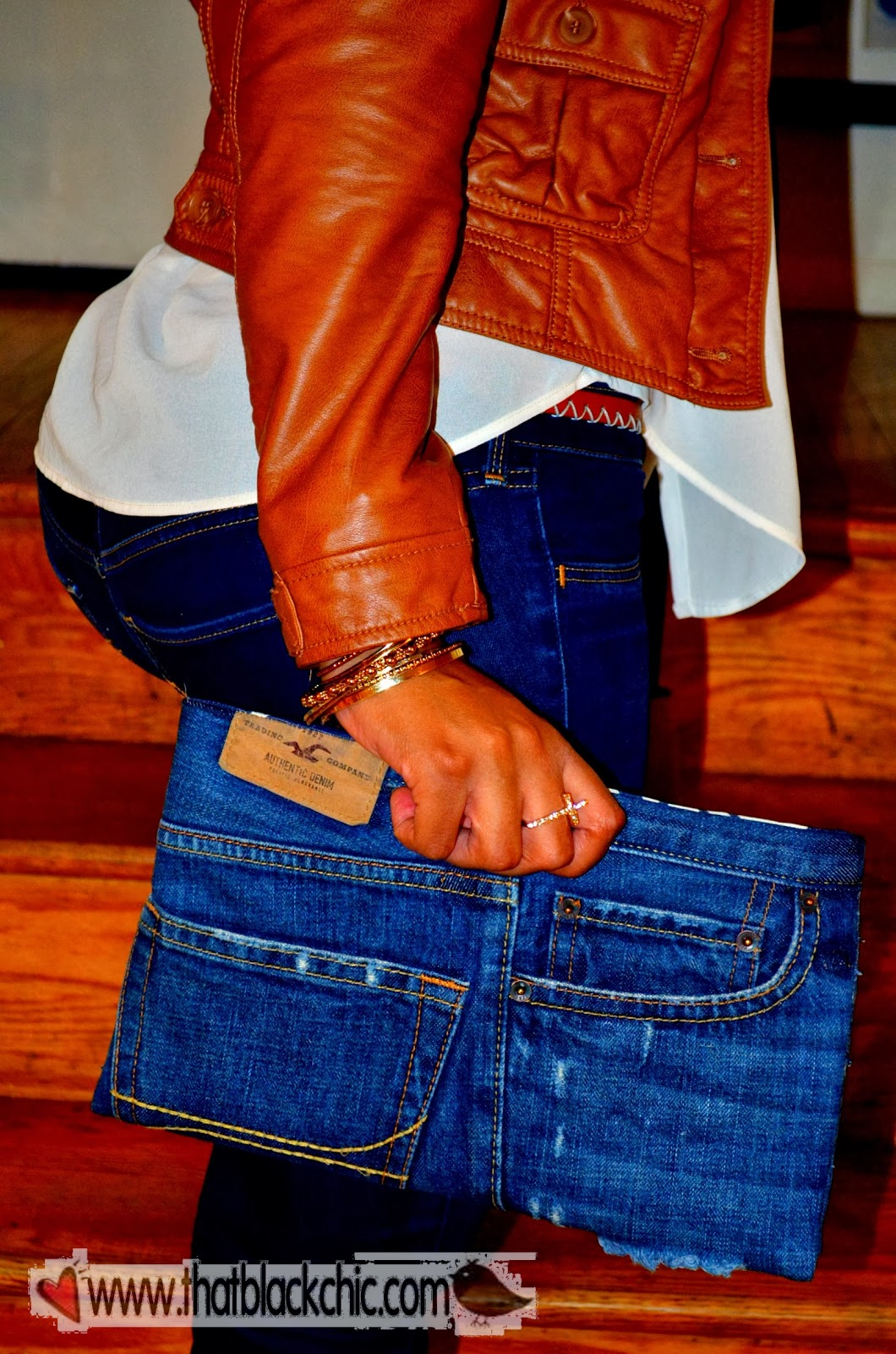DIY Denim Clutch-Your jeans  your style | That Black Chic