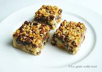 Carrés gourmands noisette et chocolat