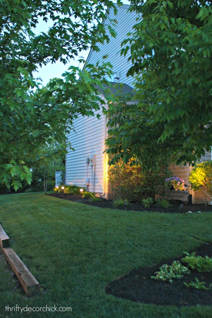 DIY landscaping lights
