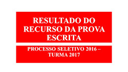 RESULTADO - RECURSO DA PROVA ESCRITA