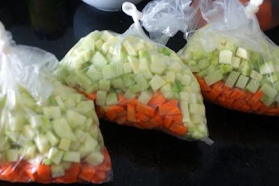 Congelando vegetais blog Lu Tudo Sobre Tudo