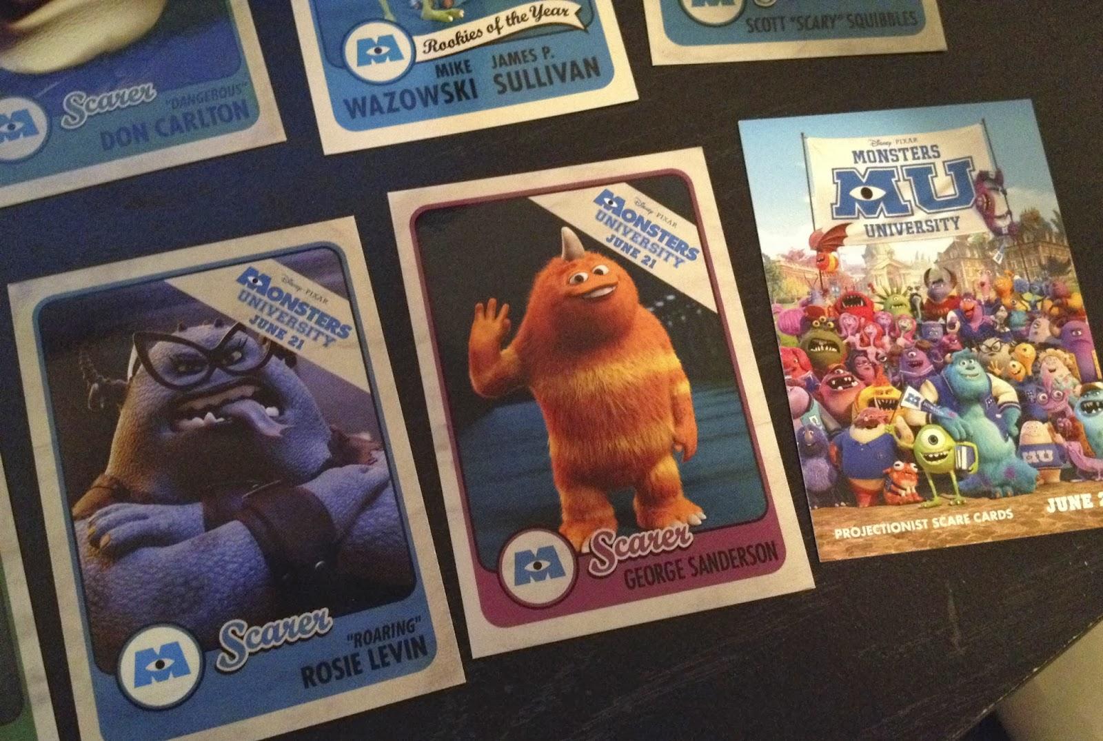 Dan The Pixar Fan Monsters University Projectionist Scare Cards