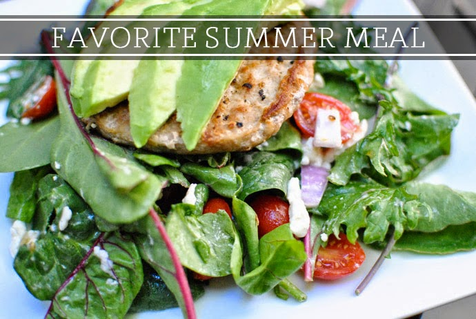 favorite summer meal, salad, summer, trader joes