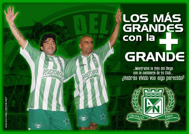 Nacional y Real Madrid Juntos Maradona y Serna Juntos Con la