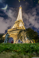 Eiffel Tower Night Paris photography