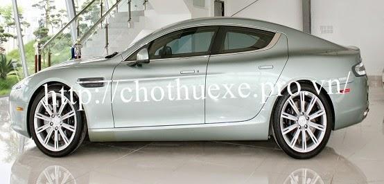 Cho thuê siêu xe Aston Martin Rapide xanh