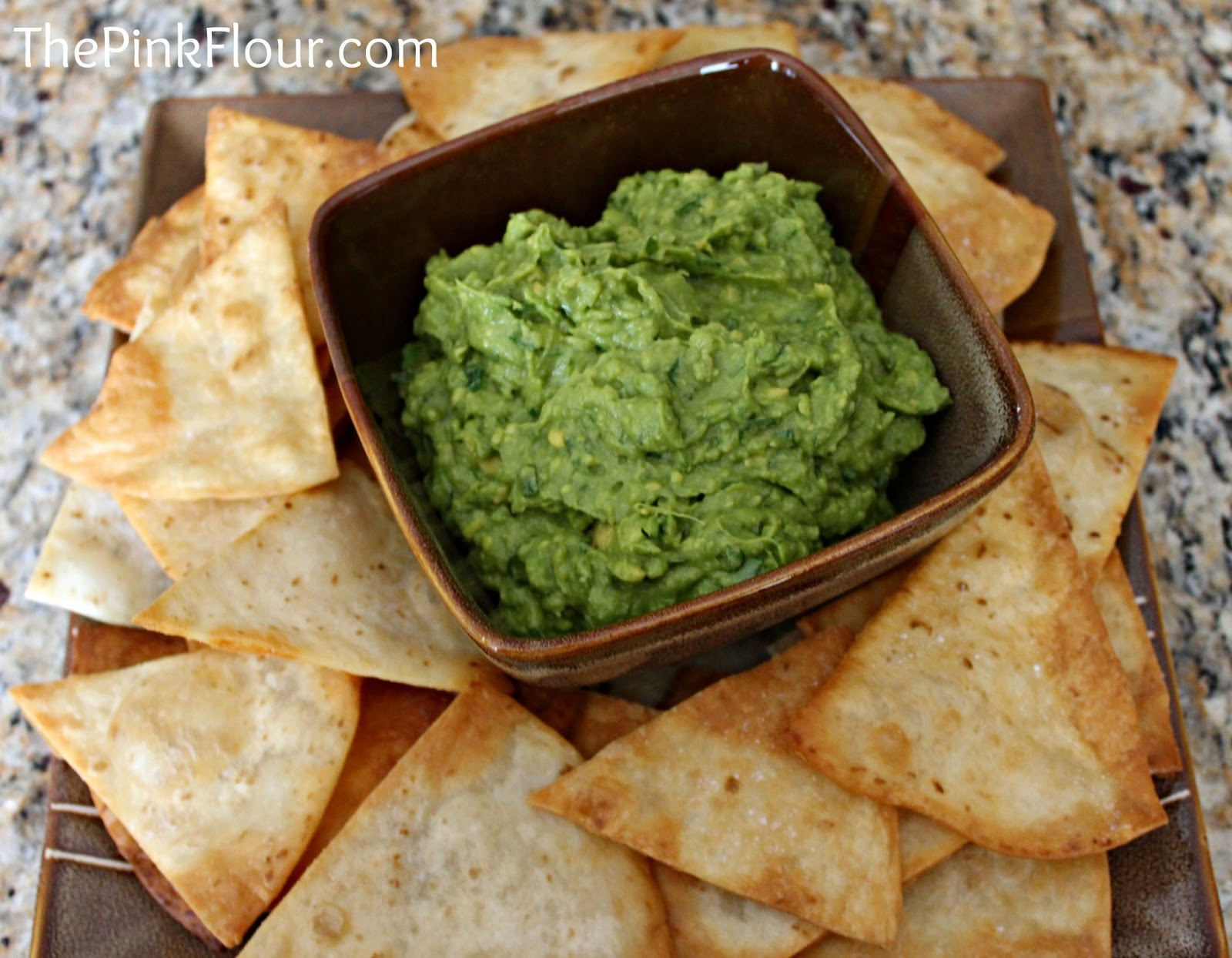 My favorite Guacamole with homemade Tortilla Chips