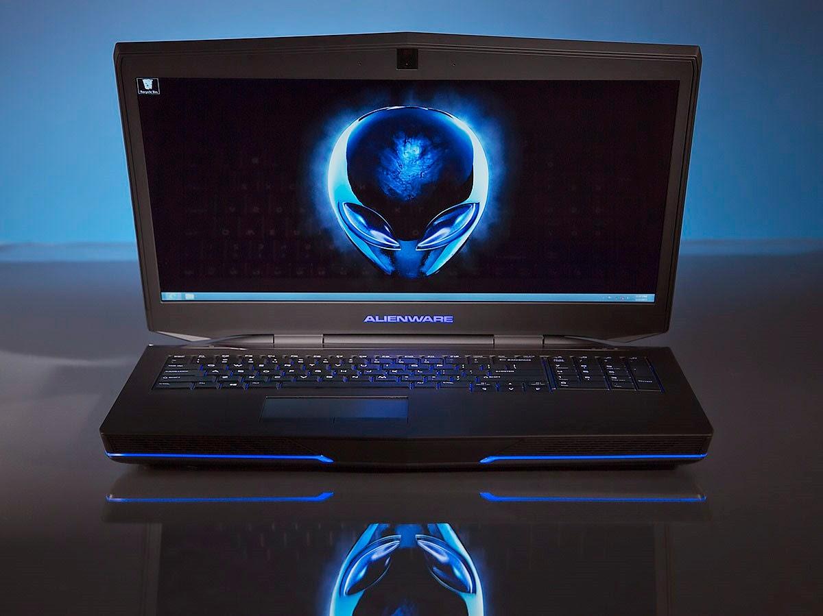 Alienware 17 with blue lighting – definitely eye-catching
