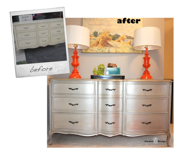 DIY silver french provincial dresser by cuckoo4design