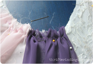 Hand Sew Skirt Portions