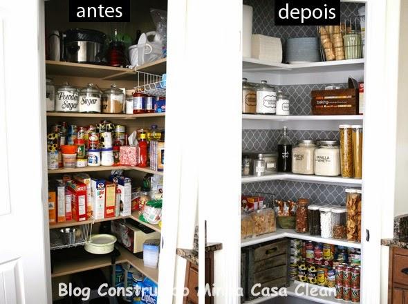 Construindo minha casa clean despensas de cozinhas lindas - Armarios para despensa ...