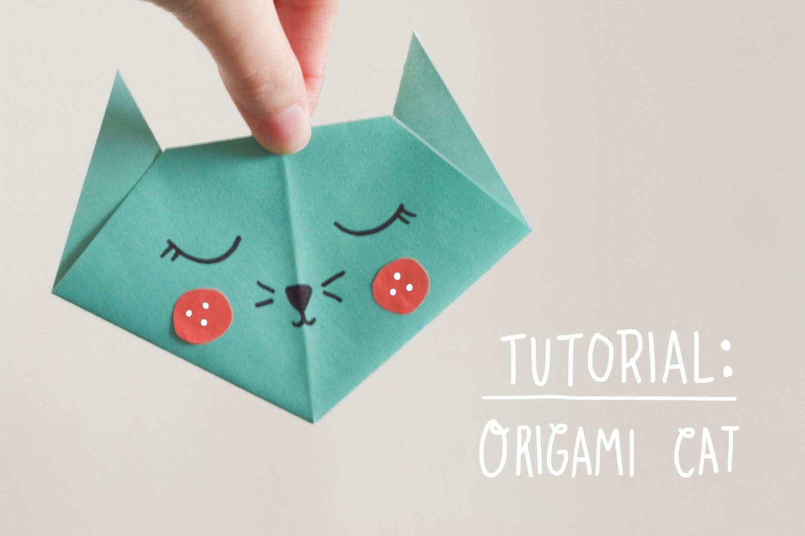 Nook Amp Cranny Tutorial Origami Cat