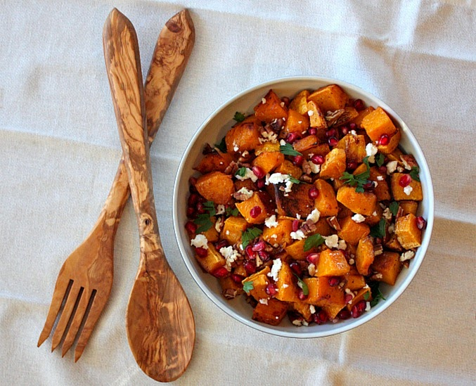 APPLE A DAY: Meatless Monday--Butternut Squash and Pomegranate Salad