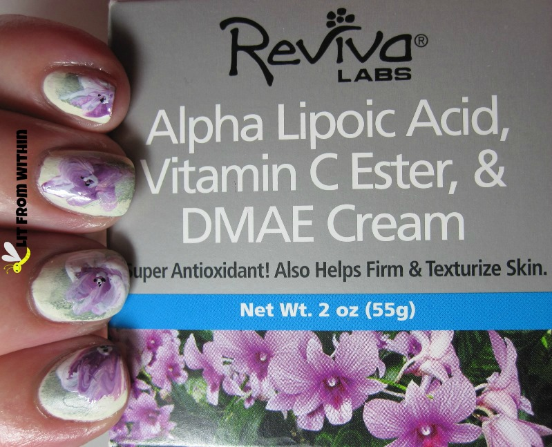 Reviva Labs packaging that inspired my mani