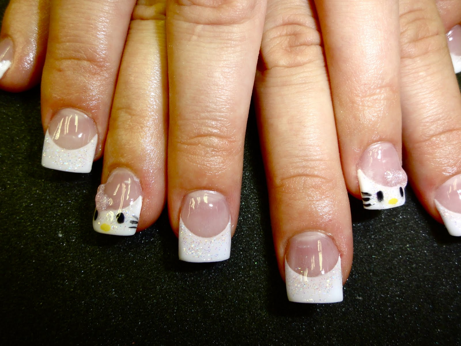 This girl loves hello kitty and who doesn 39 t for 3d nail salon midvale utah