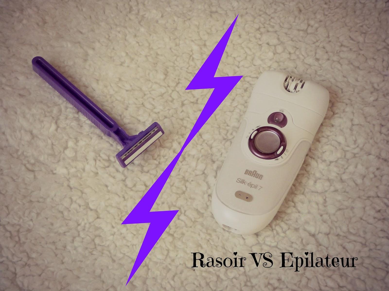 comparaison rasoir épilateur