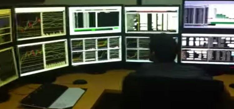 pantallas trader bolsa monitores escritorio broker