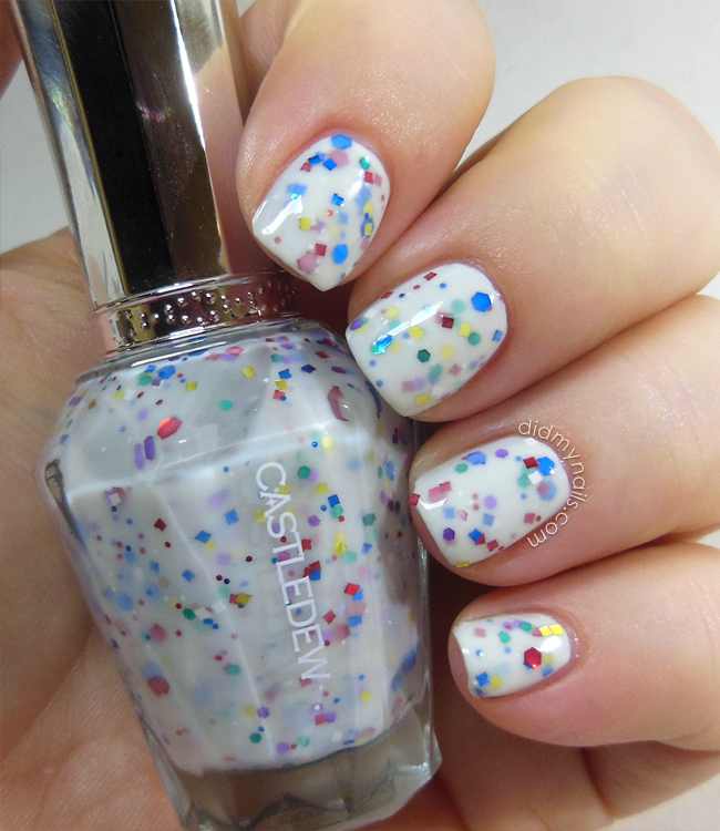 Castledew yogurt glitter polish
