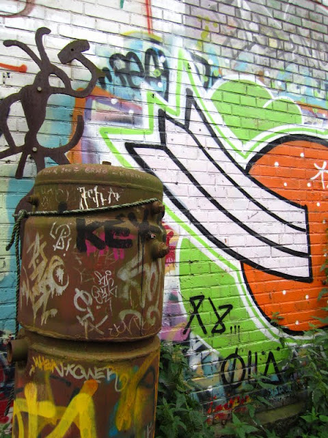 Graffiti in Christiania, Copenhagen, Denmark.