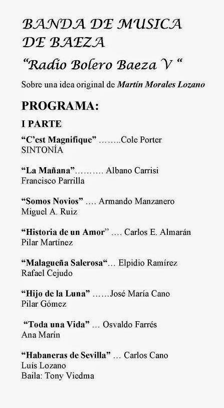 """PROGRAMA """"RADIO BOLERO V"""""""