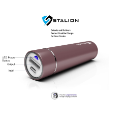 Portable Charger : Stalion® Saver C3 3200mAh Power Bank External Battery Backup Travel Pack (Fuchsia Pink)[24 Month Warranty] Super Compact Pocket Sized with Smart Technology TM + Colored LED Charging Power Indicator + Micro USB Cable