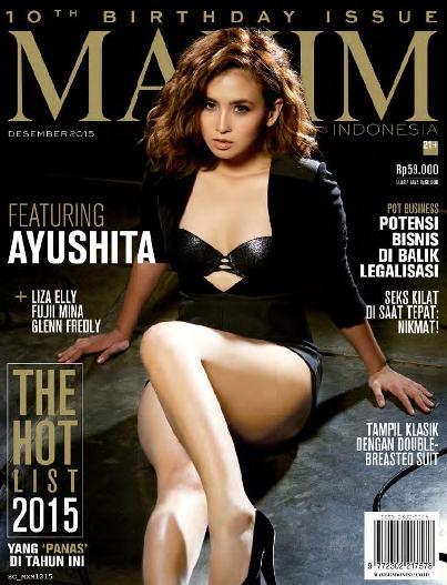 "Majalah MAXIM Indonesia Edisi Desember 2015 - Ayushita ""The Hot List 2015 / Yang Panas Tahun Ini"" | www.insight-zone.com"